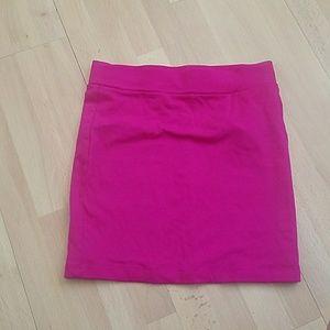 Hot Pink mini skirt Small forever 21